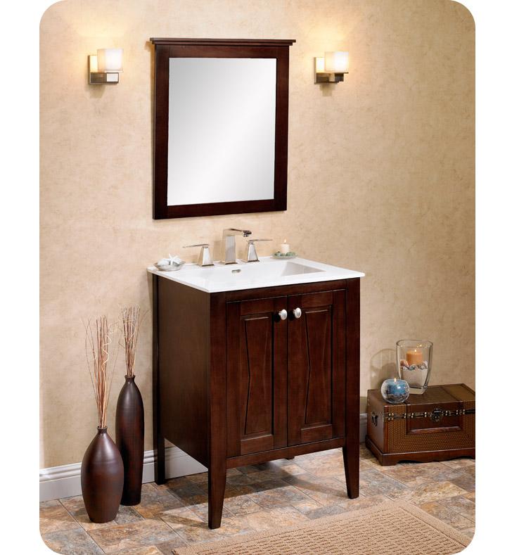 104 V2421 Fairmont Designs Bowtie 24 Modern Bathroom Vanity In Espresso