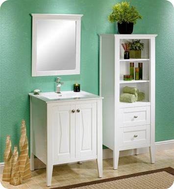 "Fairmont Designs 102-V2421 Bowtie 24"" Modern Bathroom Vanity in Polar White"