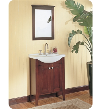 "Fairmont Designs 104-V26 Bowtie 26"" Modern Bathroom Vanity, Sink, Mirror Combo in Espresso"