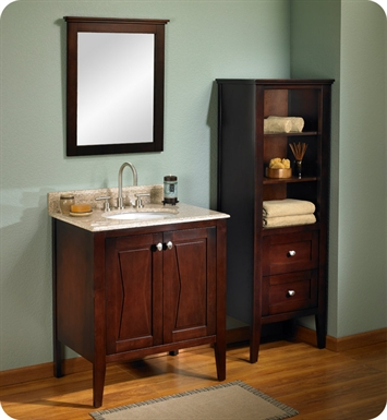 "Fairmont Designs 104-V3021 Bowtie 30"" Modern Bathroom Vanity in Espresso"
