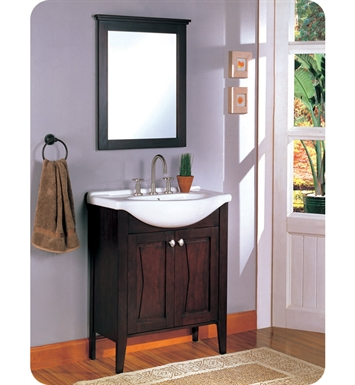 "Fairmont Designs 104-V30 Bowtie 30"" Modern Bathroom Vanity, Sink, Mirror Combo in Espresso"