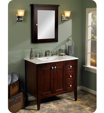 "Fairmont Designs 104-V3621R Bowtie 36"" Modern Bathroom Vanity Drawer right in Espresso"