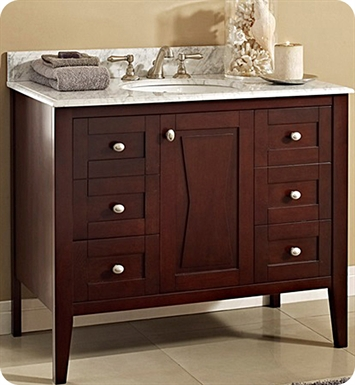 "Fairmont Designs 104-V4221 Bowtie 42"" Modern Bathroom Vanity in Espresso"