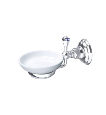 Rohl A1487C-STN Viaggio Country Crystal Wall Mount Soap Dish With Finish: Satin Nickel