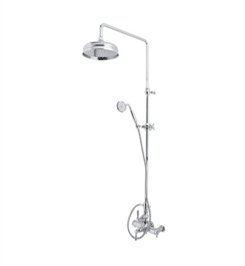 Rohl AKIT29171EXM-STN Verona Exposed Thermostatic Shower Package With Finish: Satin Nickel And Handles: Verona Metal Cross Handles