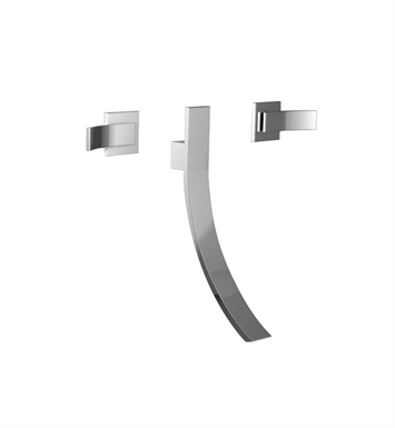 Santec 9929CU14-TM Ava Crystal Wall Mount Widespread Lavatory Set with CU Style Handles With Finish: Gunmetal Gray <strong>(USUALLY SHIPS IN 2-4 WEEKS)</strong> And Configuration: Trim Only