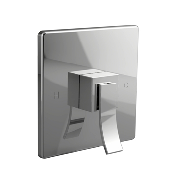 Santec 9931CU88-TM Ava CR Style Handle with Shower Plate With Finish: Bright Pewter <strong>(USUALLY SHIPS IN 2-4 WEEKS)</strong> And Configuration: Trim Only