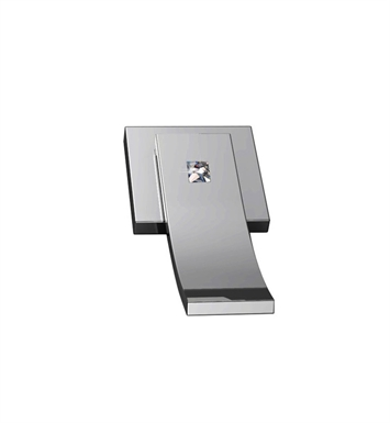 Santec DT2-CR75 Ava Crystal CR Style Wall Mount 2 Way Diverter Trim With Finish: Satin Nickel <strong>(USUALLY SHIPS IN 1-2 WEEKS)</strong>