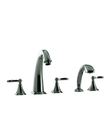 Santec 4655BR80-TM Baroque Roman Tub Filler with Hand Held Shower and BR Style Handles With Finish: Standard Pewter <strong>(USUALLY SHIPS IN 2-4 WEEKS)</strong>