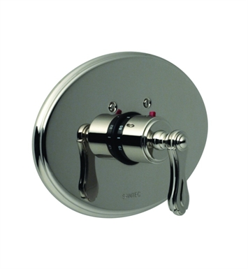 Santec 7093BR10 Baroque BR Style Thermostatic Control Handle with Trim Plate With Finish: Polished Chrome <strong>(USUALLY SHIPS IN 1-2 WEEKS)</strong>