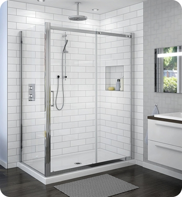 Fleurco STSR72 Banyo Shuttle In Line 72 Semi Frameless In Line Sliding Door with Return Panel