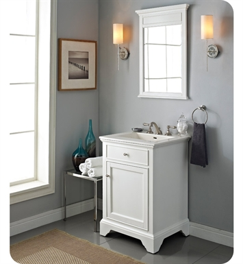"Fairmont Designs 1502-V24 Framingham 24"" Modern Bathroom Vanity in Polar White"
