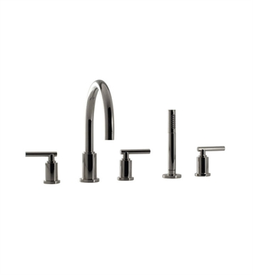 Santec 2655EZ88 Caprie Roman Tub Filler with Hand Held Shower and EZ Style Handles With Finish: Bright Pewter <strong>(USUALLY SHIPS IN 2-4 WEEKS)</strong>