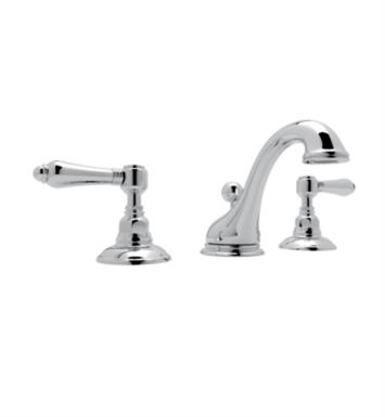"Rohl A1408 Viaggio 5"" Double Handle Widespread C-Spout Bathroom Sink Faucet"
