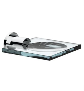 Santec 2668EA80 Glass Soap Dish Matches With Finish: Standard Pewter <strong>(USUALLY SHIPS IN 4-5 WEEKS)</strong>