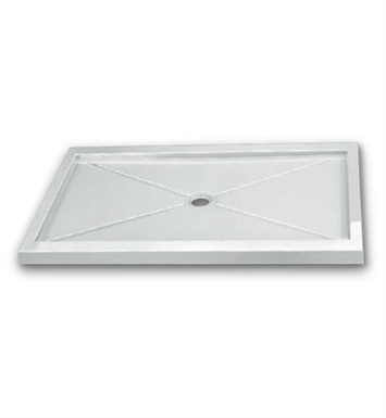 Fleurco ABF3636-13 Quad Square Acrylic Shower Base - Center Drain Model With Finish: Biscuit
