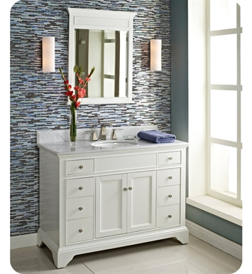 "Fairmont Designs 1502-V48 Framingham 48"" Modern Bathroom Vanity in Polar White"