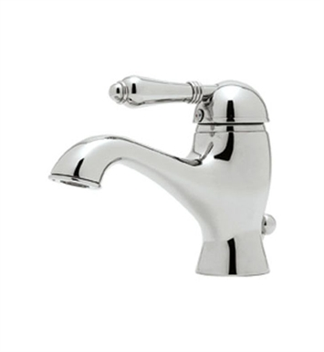 Rohl A3402LP-STN Viaggio Single Lever Single Hole Lavatory Faucet With Finish: Satin Nickel And Handles: Porcelain Lever Handles