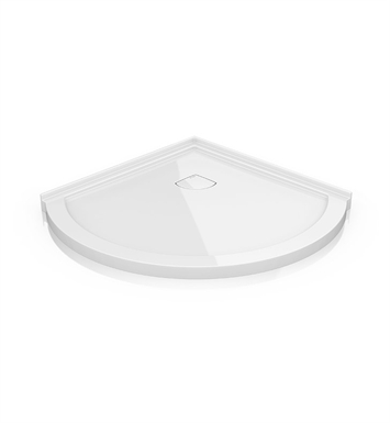 "Fleurco ALB36-18 Arc Acrylic Low Profile Corner Shower Base - Concealed Drain Model With Base Size: 36"" x 36"" x 2"" And Finish: White"