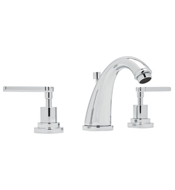Rohl A1208LM-STN-2 Avanti C-Spout Widespread Lavatory Faucet With Finish: Satin Nickel And Handles: Avanti Metal Lever Handles And Configuration: 2 Handles