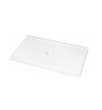 "Fleurco ASPE3660-18 Petra Rectangular Solid Surface Shower Base - Concealed Center Drain Model With Base Size: 60"" x 36"" x 3"" And Finish: White"