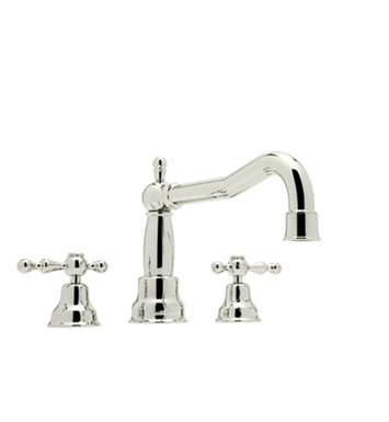 Rohl AC252X-PN Cisal Arcana 3-Hole Deck Mount Bathtub Filler With Cross Handles in Polished Nickel