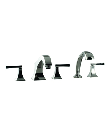 Santec 9255ED91-TM Edo Roman Tub Filler with Hand Held Shower and ED Style Handles With Finish: Wrought Iron <strong>(USUALLY SHIPS IN 2-4 WEEKS)</strong> And Configuration: Trim Only
