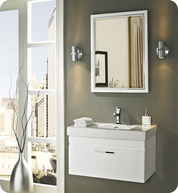 "Fairmont Designs 177-WV30 Metropolitan 30"" Wall Mount Vanity and Sink Set in Glossy White"