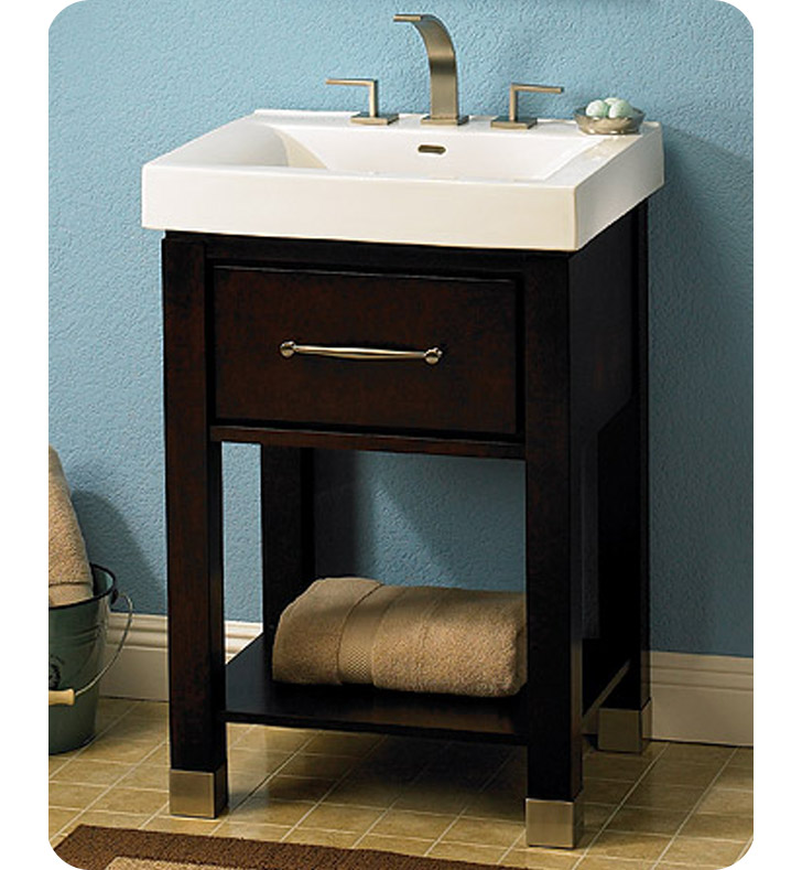 Fairmont Designs 145 V2418a Midtown 24 Open Shelf Modern Bathroom Vanity In Espresso