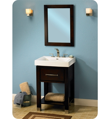 "Fairmont Designs 145-V2418A Midtown 24"" Open Shelf Modern Bathroom Vanity in Espresso"