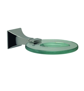 Santec 9268ED10 Edo Glass Soap Dish With Finish: Polished Chrome <strong>(USUALLY SHIPS IN 1-2 WEEKS)</strong>