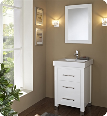 "Fairmont Designs 144-V2418B Midtown 24"" Modern Bathroom Vanity in Gloss White"