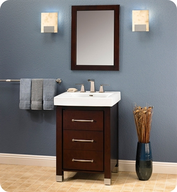 "Fairmont Designs 145-V2418B Midtown 24"" Modern Bathroom Vanity in Espresso"