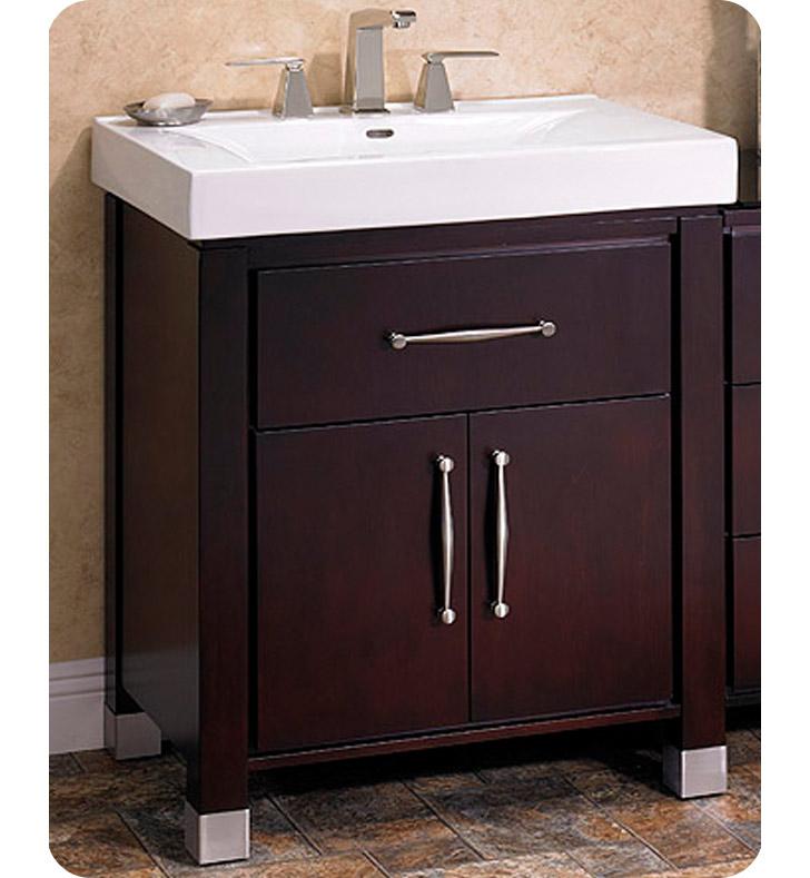 Fairmont designs 145 v3018 midtown 30 modern bathroom for Espresso vanity bathroom ideas