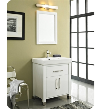 "Fairmont Designs Midtown 30"" Modern Bathroom Vanity in Gloss White"