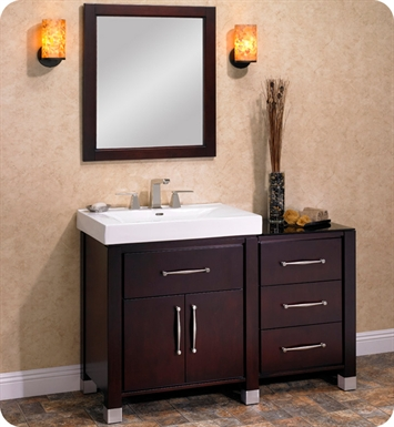 "Fairmont Designs 145-V3018_DB1818_LEG Midtown 48"" Modular Modern Bathroom Vanity in Espresso"