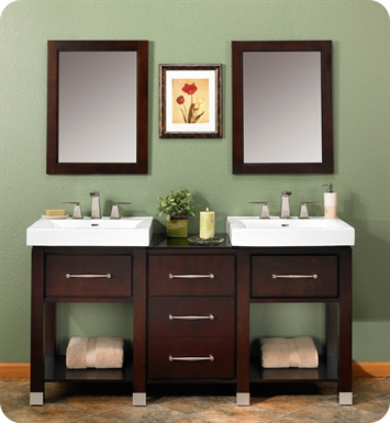 "Fairmont Designs 145-V2418A_DB1818_V2418A Midtown 64"" Modular Open Shelf Modern Bathroom Vanity in Espresso"