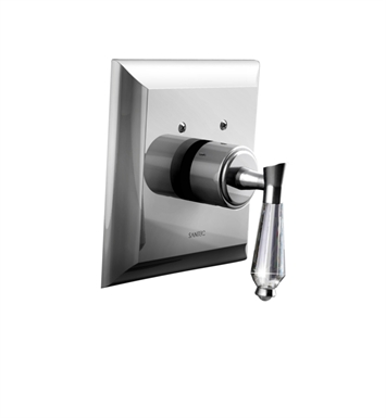 Santec 7093DC15-TM Edo Crystal DC Style Thermostatic Control Handle with Trim Plate With Finish: Satin Chrome <strong>(USUALLY SHIPS IN 1-2 WEEKS)</strong>