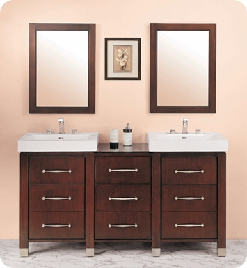 "Fairmont Designs Midtown 64"" Modular Modern Bathroom Vanity in Espresso"