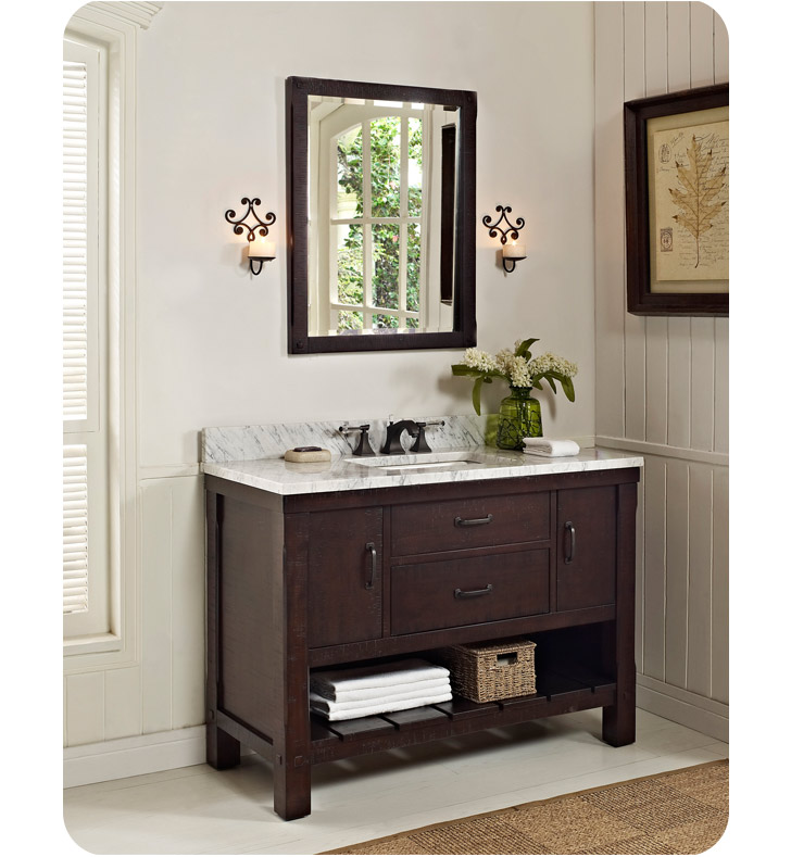 Fairmont designs 1506 vh48 napa 48 quot open shelf modern bathroom vanity
