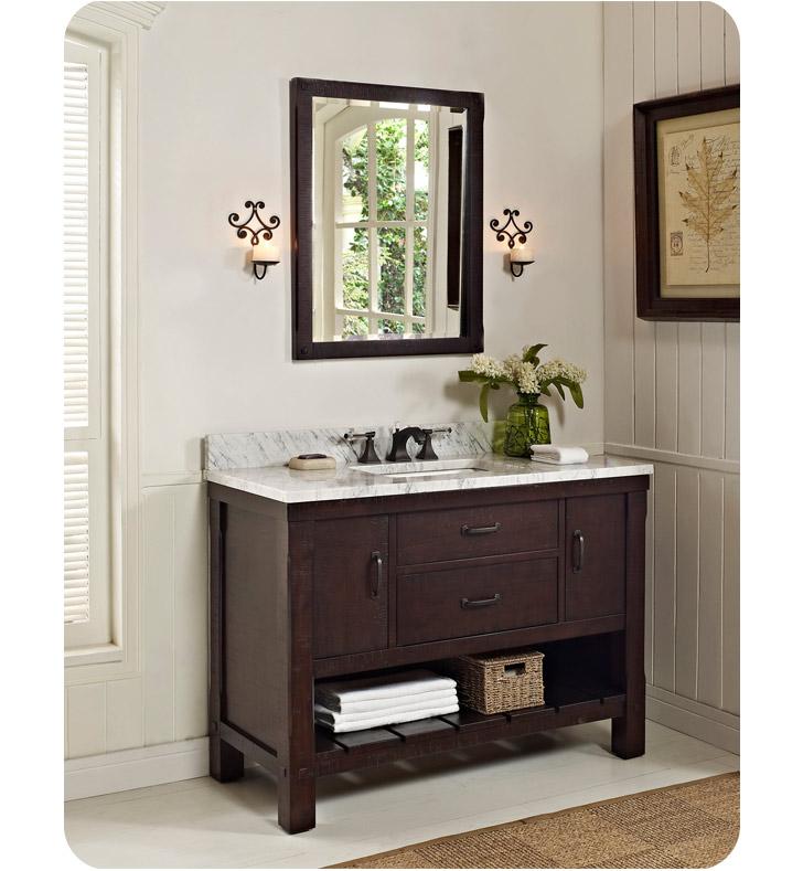 Fairmont Designs 1506 Vh48 Napa 48 Open Shelf Modern Bathroom Vanity