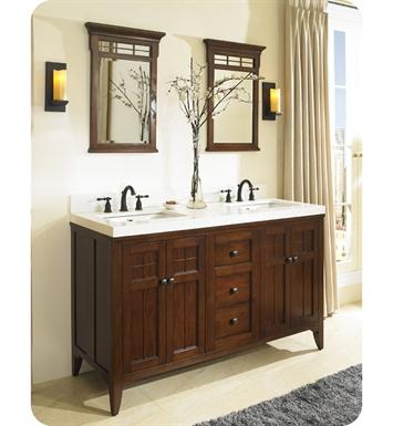 Fairmont designs 169 v6021d prairie 60 double bowl modern bathroom vanity for 60 double bowl bathroom vanity
