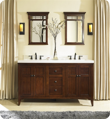 "Fairmont Designs 169-V6021D Prairie 60"" Double Bowl Modern Bathroom Vanity"