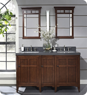 "Fairmont Designs 169-V24_DB1221_V24 Prairie 60"" Modular Double Bowl Modern Bathroom Vanity"