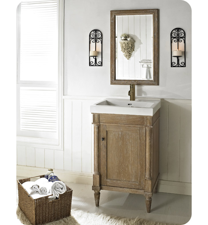 Designs 142 v21 rustic chic 21 quot modern bathroom vanity and sink set