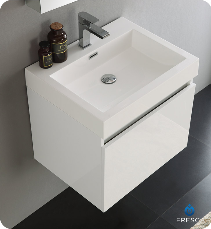 fvn8006wh nano 24 white modern bathroom vanity with medicine cabinet