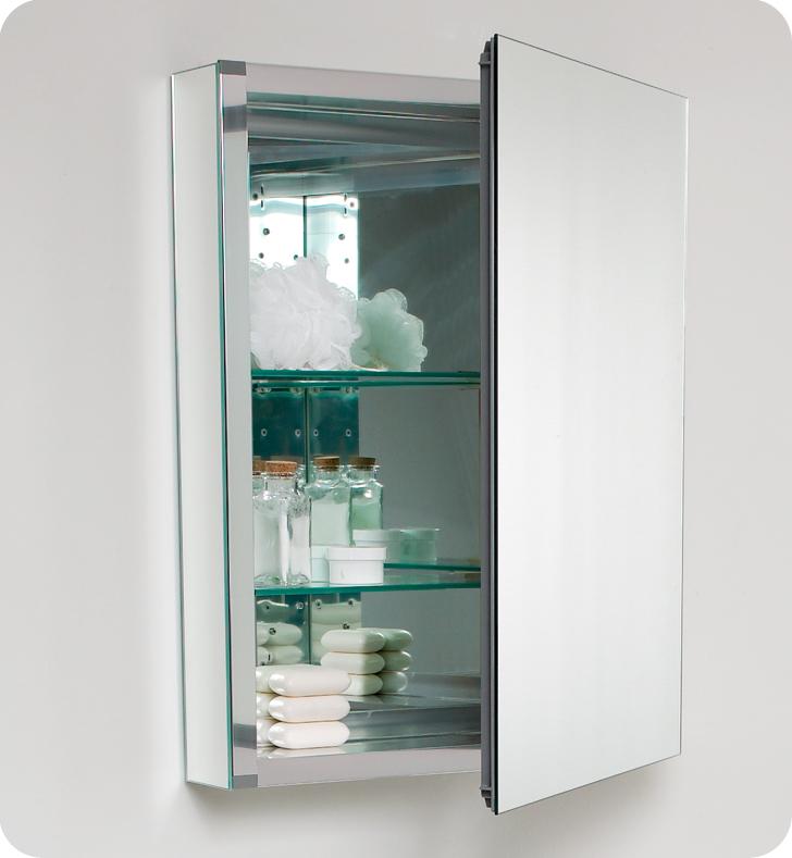 """24 Bathroom Vanity With Medicine Cabinet fresca fvn8006wh nano 24"""" white modern bathroom vanity with"""