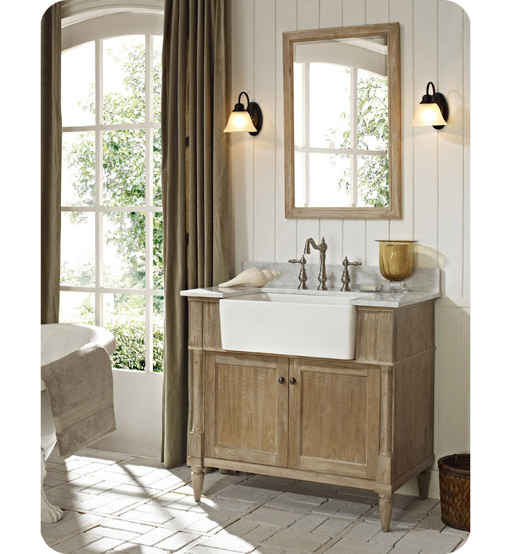 Fairmont designs 142 fv36 rustic chic 36 farmhouse modern for Modern chic bathroom designs