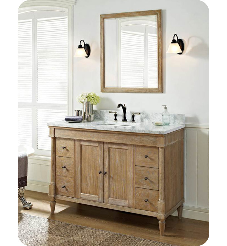 Fairmont designs 142 v48 rustic chic 48 modern bathroom for Modern bathroom vanity designs