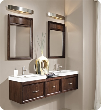 "Fairmont Designs 152-WV21_WB1818_WV21 Seascape 60"" Modular Wall Mount Modern Bathroom Vanity and Sink Set"